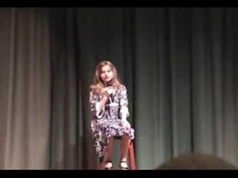 Jenna Winters at Greenville School Talent Show