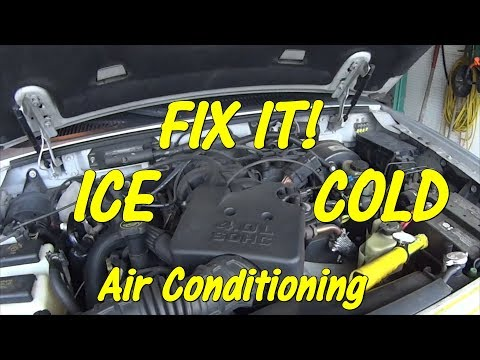FREE FIX - How to Diagnose and Adjust an A/C Compressor Clutch in Car Truck - Blows Cold Then Warm