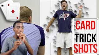 Dude Perfect | Card Throwing Trick Shots | REACTION