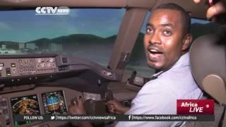 CCTV - Ethiopia Airlines Unveils Boeing 777 And 787 Flight Simulators - የኢትዮጵያን አየር መንገር የቦይንግ 777 እ