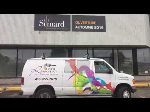 Peinture Au Spray Commerciale Interieure Simard Cuisine Et Salle De Bains Entrepreneur Peintre Youtube