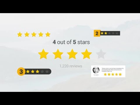 Review Stars Toolkit After Effects Templates