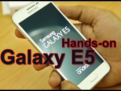 Samsung Galaxy E5 - Hands-on (loja Samsung) - Português