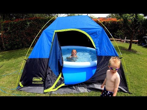Swimming Pool inside a Tent (Outdoor Indoor Pool)