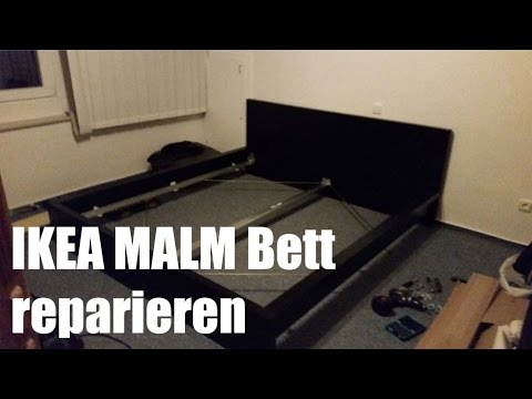ikea malm bett reparieren und verst rken youtube. Black Bedroom Furniture Sets. Home Design Ideas