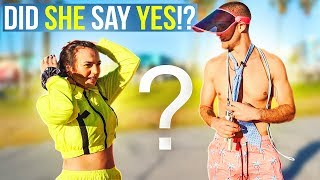 Asking Strangers To Jump Rope With Us!