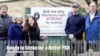 PSU AAUP Strike Info Picket on Feb. 27
