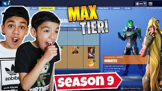 I Surprised My Brothers With The Max Fortnite Season 9 Battle PASS!