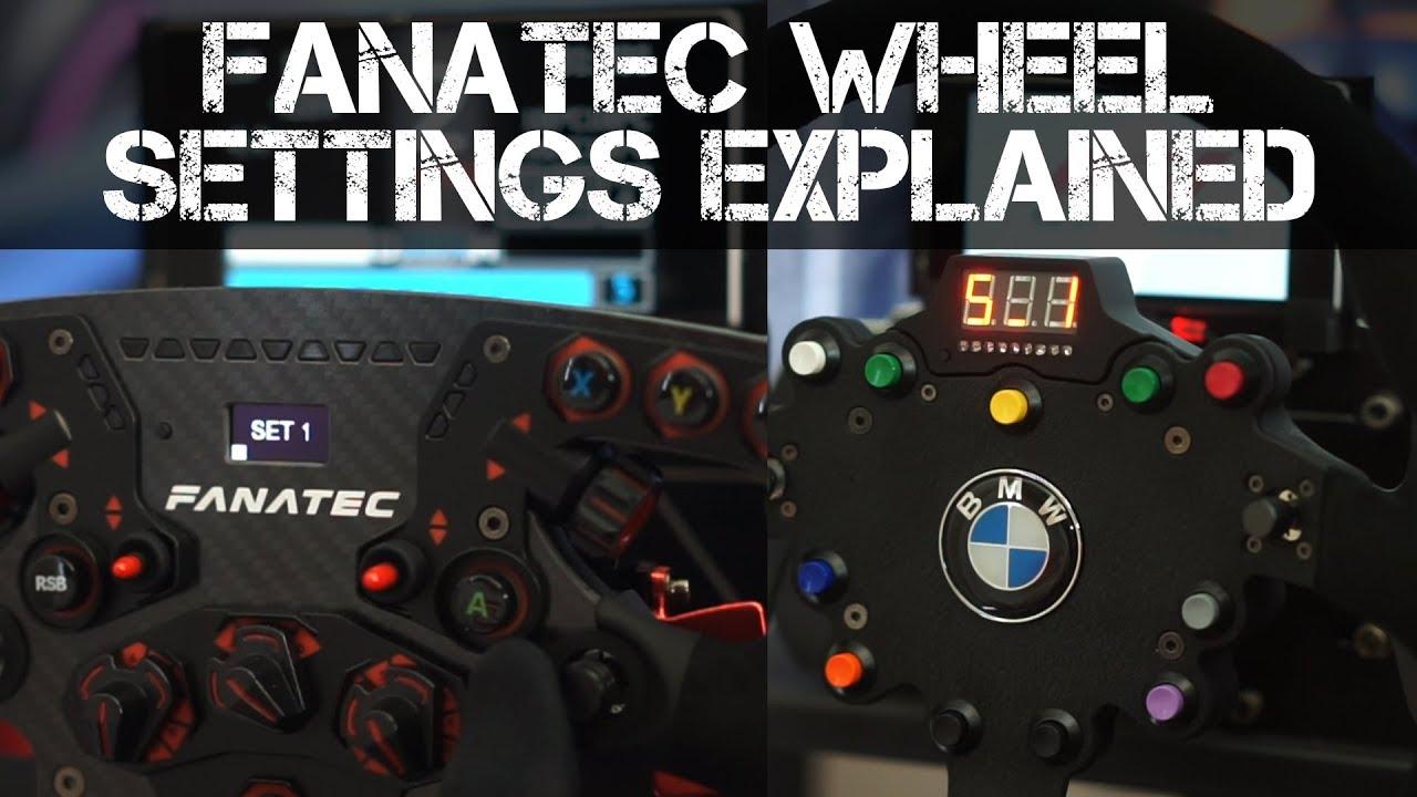 FANATEC ClubSport Tuning Menu Settings Explained + My F1