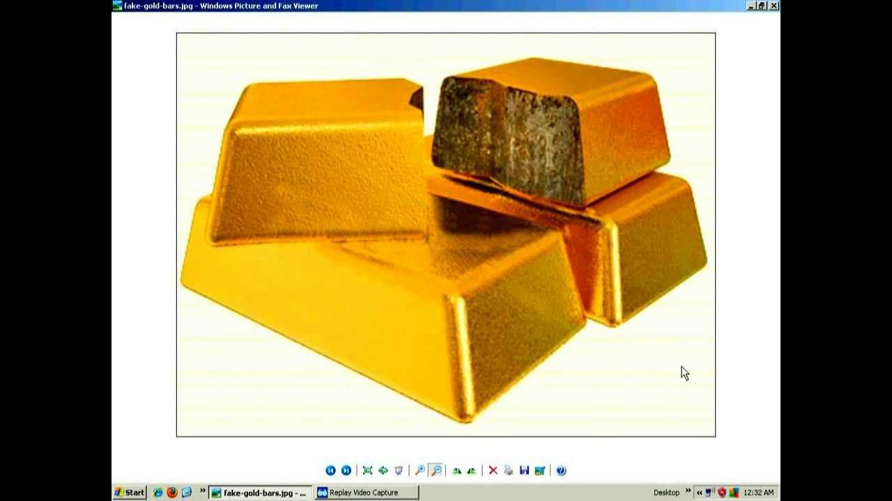 Tungsten Filled Gold Bars