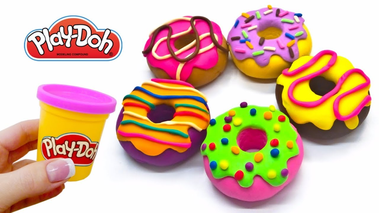 Play Doh Rainbow Donuts Diy How To Make Play Doh Donuts