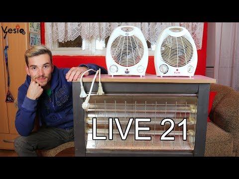 LIVE #21 Popravljam kvarcnu grejalicu i kalorifere
