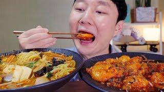 Mukbang 쫄깃한 왕깐쇼새우와 짬뽕 소리 먹방이야b^^d Fried Shrimp In Spicy Sauce&jjamppong EatingSounds 干烧虾乾燒蝦ちゃんぽん