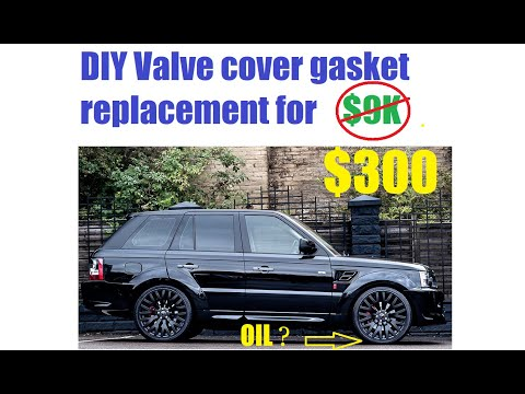 Range Rover Sport Supercharged 5.0l DIY Valve cover gaskets replacement for under $300 Land Rover 10