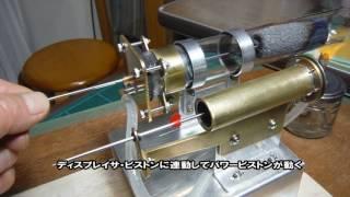 スターリングエンジンのパワーピストンは複動式だ