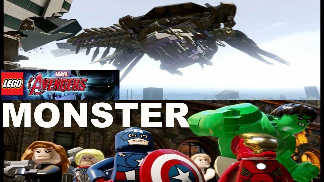 Lego Marvel Avengers Walkthrough Vs Monster Gameplay ...