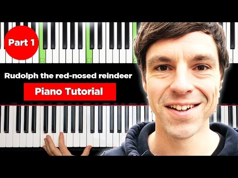 Weihnachtslieder Piano Tutorial.Rudolph The Red Nosed Reindeer Christmas Piano Tutorial Easy Youtube