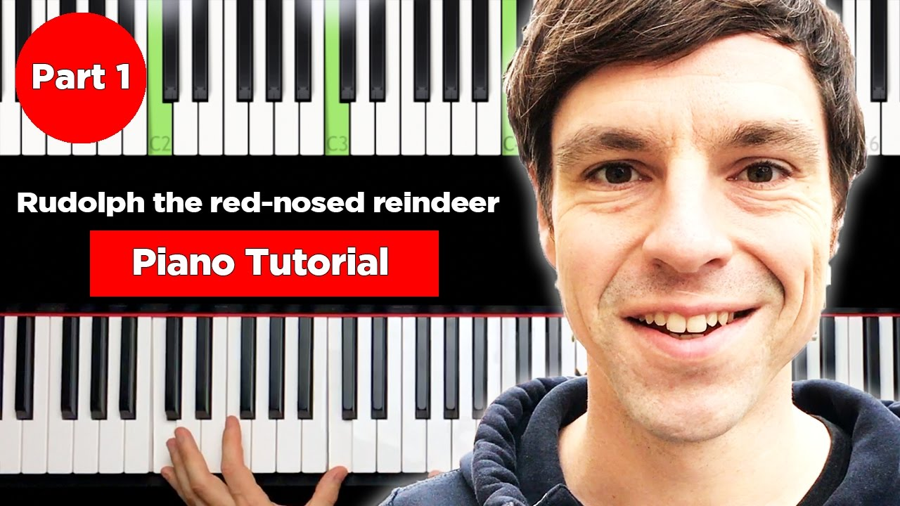 Weihnachtslieder Piano Tutorial.Rudolph The Red Nosed Reindeer Christmas Piano Tutorial Easy