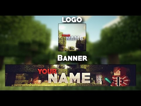 YouTube Banner & Logo Template Minecraft #2 - YouTube