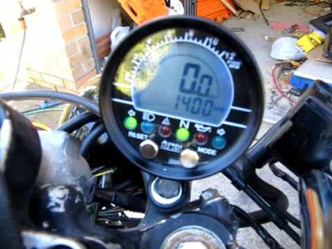 Acewell Gauge On Cx500 Cafe Racer Build Youtube
