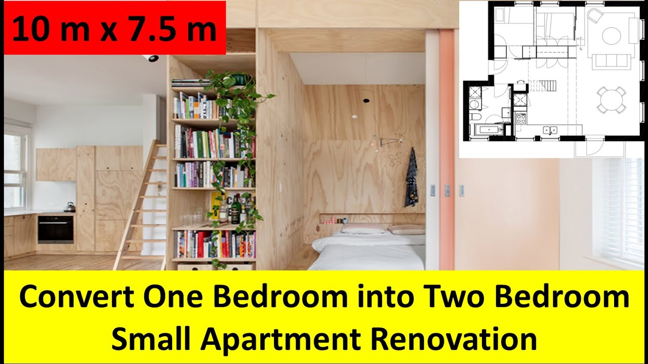 how to turn a small bedroom into a dressing room convert one bedroom into two bedroom small apartment 21355