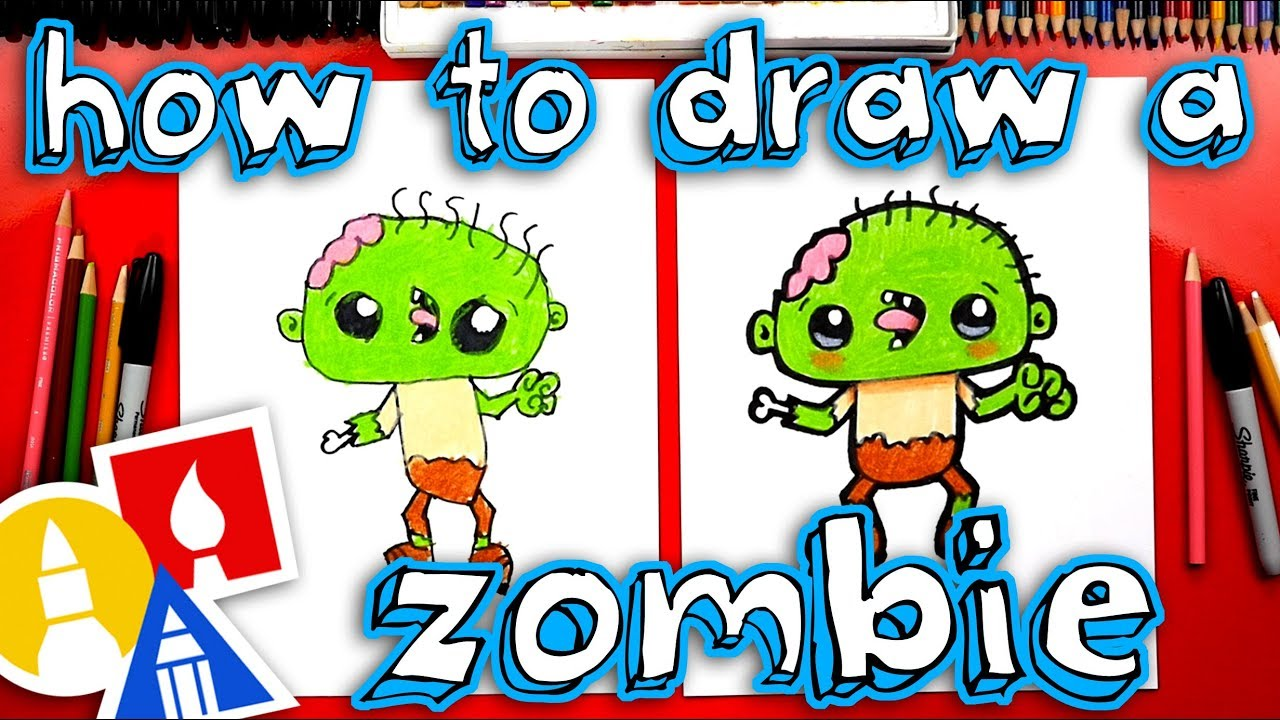 How To Draw A Funny Zombie Youtube