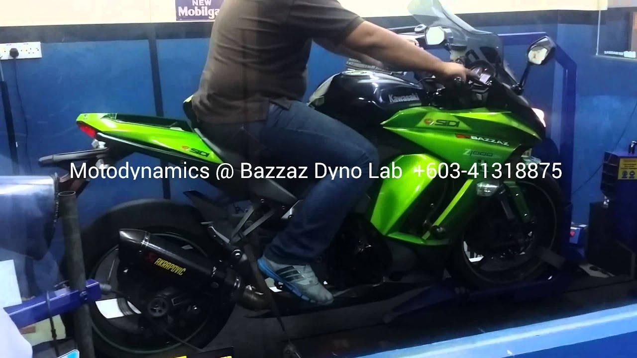 Kawasaki Z1000SX Bazzaz ZFi Dyno And Tuning