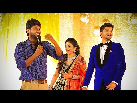 Sun Music VJS\u0027s Rocking Performence @ Diya Menon  Karthik - wedding music for reception