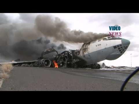 Saudi led airstrikes hit plane at Sanaa International Airport