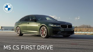 homepage tile video photo for The First Drive of the BMW M5 CS Sedan | BMW USA