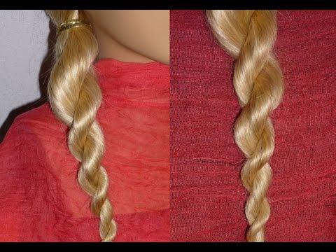 Коса жгут.Причёски для средних/длинных волос.Причёски в школу самой себе за 5 минут на каждый день