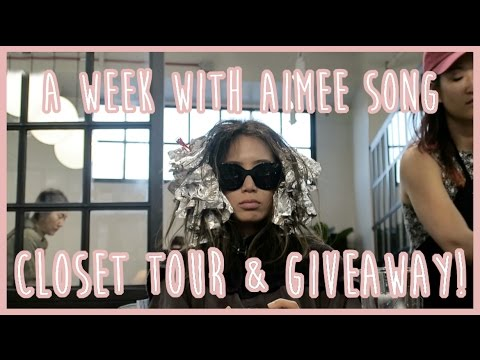 A Week With Aimee Song - Lasik, Closet Tour, GIVEAWAY | Song of Style
