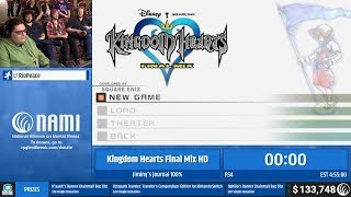 Kingdom Hearts Final Mix HD (Jiminy's Journal 100%) by RioPeace (RPG Limit Break 2019 Part 51)