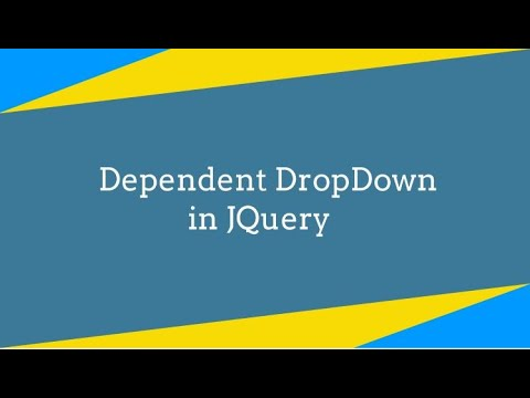 How To Create jQuery Dependent DropDown List Jquery Tutorial thumbnail