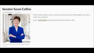 Senator Susan Collins on MPBN