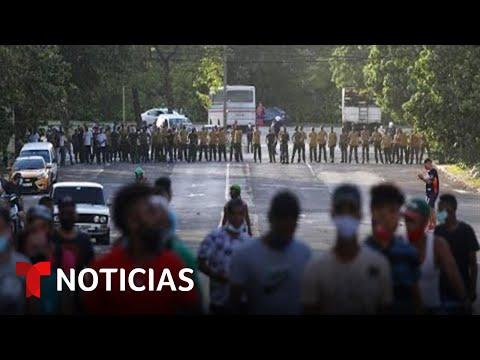 Las protestas en Cuba mantienen en vilo al régimen   Noticias Telemundo