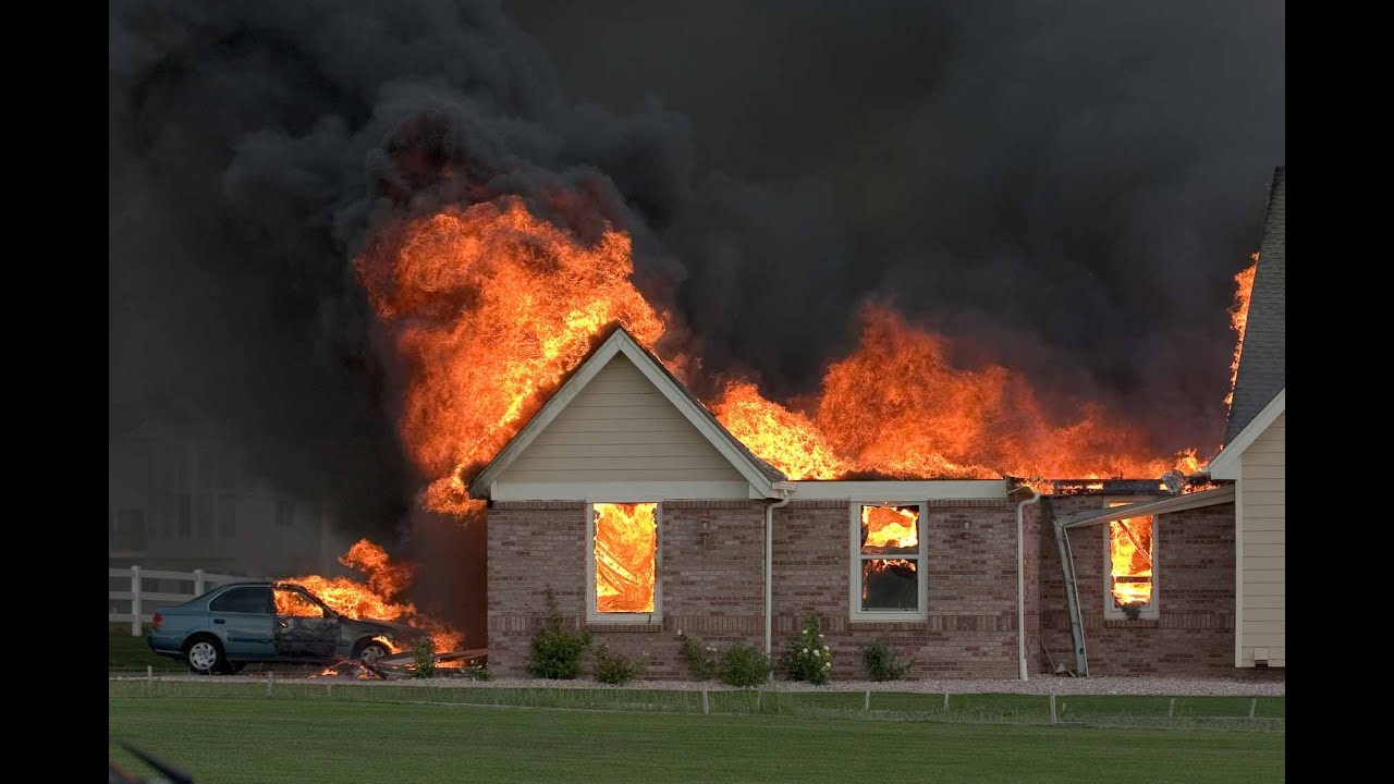 Burning down the old farm house - YouTube