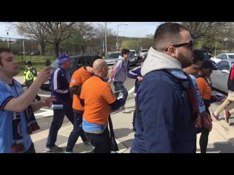 NYCFC fans march to RFK Stadium (8 April 2017)