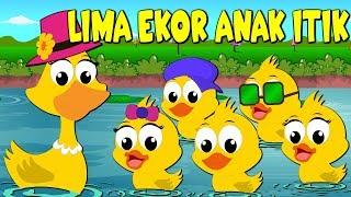 Lagu Kanak Kanak Melayu Malaysia - LIMA EKOR ANAK ITIK - 5 little ducks Malay