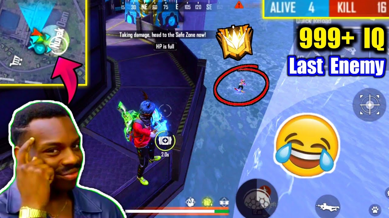 Most Confusing Last Zone on Grandmaster😂🔥What Happened Next? - Garena Free Fire