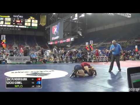 145 Champ. Round 1 - Lucas Gobel (Massachusetts) vs. Zac Funderburk (Louisiana)