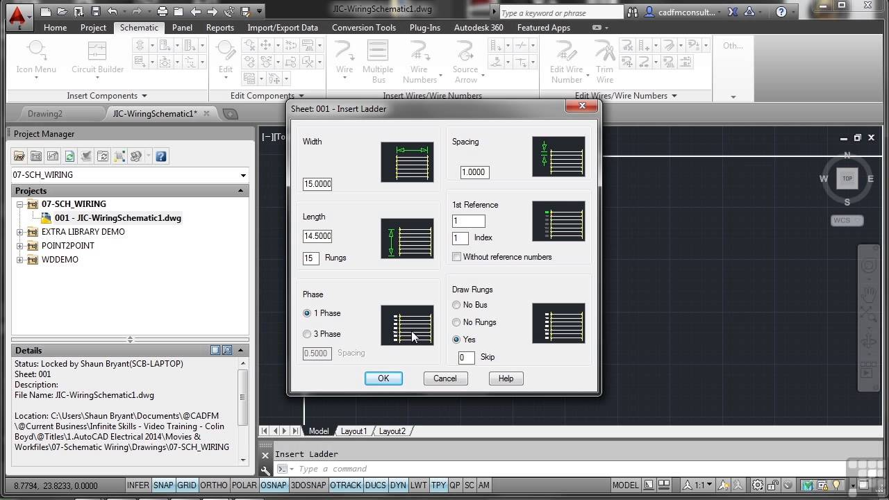 maxresdefault autodesk autocad electrical 2014 tutorial wires and ladders Aircraft Electrical Harness at bayanpartner.co
