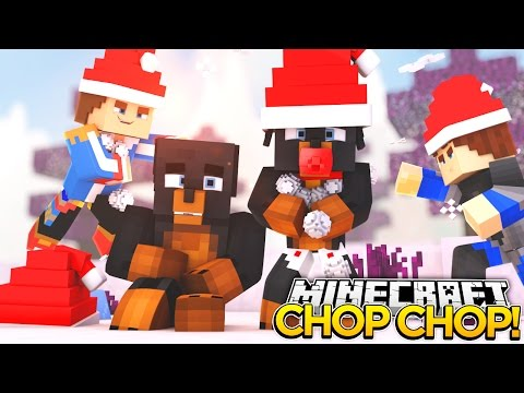 Minecraft HIDE N SEEK CHOP CHOP -  THE ENTIRE LITTLE CLUB GET CHOPPED IN THE SNOW - donut the dog