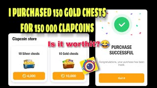 I BOUGHT 150 GOLD CHESTS || CLIPCLAPS
