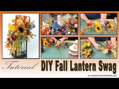 How To Make A Fall Lantern Swag Youtube