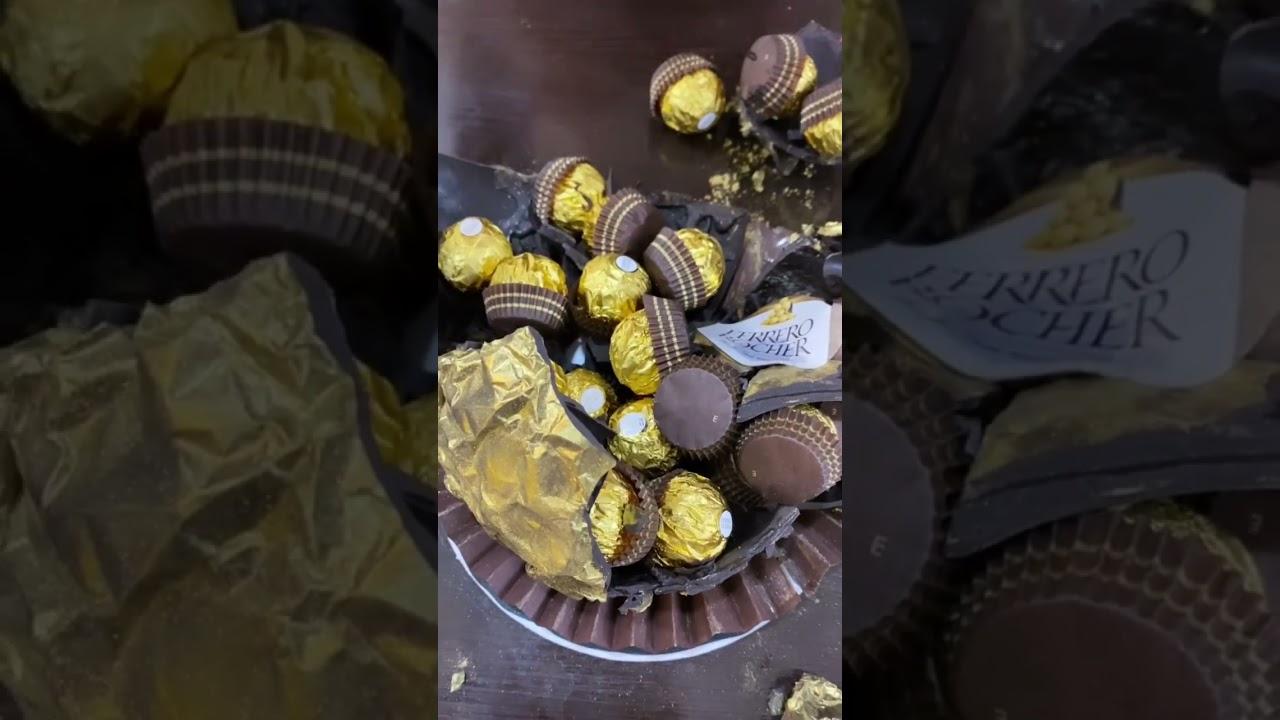 Ferrero Rocher Pinata Cake   Biggest Pinata Cake   Biggest Ferrero Rocher #Shorts #Youtubeshorts