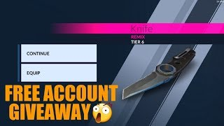 Critical Ops Free Account Giveaway with Remix Knife Tier 6 and 3 Skins!!|THEDAMNATION.