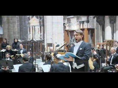 Rai3 - TGR - Johannes Passion - Bach - Duomo di Milano - 2016 - Daniele Caputo ruolo Jesus