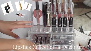 Lipstick/Lipgloss/Lipliner Collection & Declutter | 2017