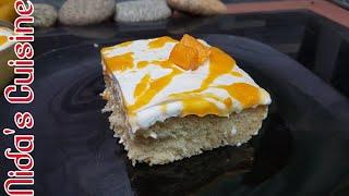 Mango Tres Leches Cake Recipe  - Mango Milk Cake - Nida&#39s Cuisine - Easy Tres Leches Cake Recipe